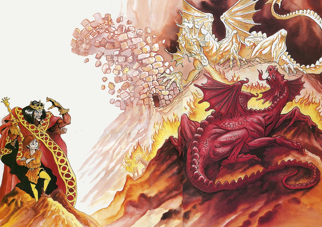 Vortigern, Merlin et les 2 dragons